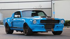 Who Loves A 1965 Ford Mustang Fastback Widebody : carporn 65 Mustang Fastback, Blue Mustang, Ford Mustang Fastback, Mustang Cars, Ford Mustangs, Mustang Horses, Restomod Mustang, Ford Svt, Shelby Mustang