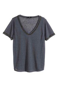Camiseta de punto con cuentas | H&M