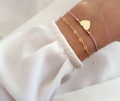 Armband Kombi gold mit Herz
