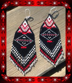 Long beaded earrings 5 1/2 North Style