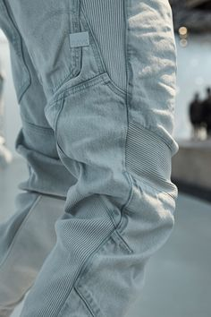 For his first collection at the helm of G-Star RAW, designer Aitor Throup explored the ergonomics of denim in a dramatic presentation at the Palais de Tokyo