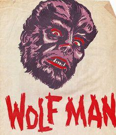 Mani-Yack Wolfman Iron-on Cool Monsters, Horror Monsters, Famous Monsters, Classic Monsters, Arte Horror, Horror Art, Horror Movies, Halloween Illustration, Illustration Art