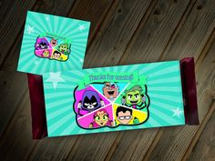 Teen Titans Go Candy Bar Wrapper Thank You by LittleBennyDesigns
