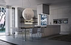 Poliform Kitchen Design. Lacquered wooden kitchen ALEA  Varenna by Poliform Italian Kitchen Design Matrix modern