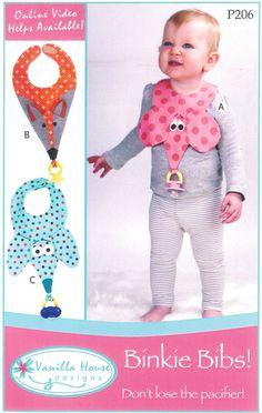 Pattern Binkie Bibs Paper Sewing Pattern by by UnBiasedFabrics
