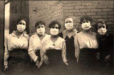 Enfermeras durante la pandemia de gripe de 1918