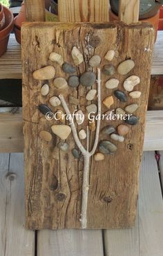 making a stone tree at craftygardener.ca
