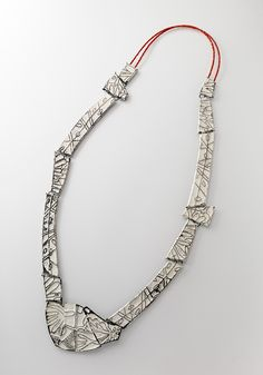 Julie Blyfield Necklace: Relic, 2013 Oxidised sterling silver, enamel paint, wax