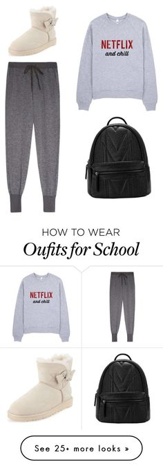 School starts tomorrow by swimmer1023 on Polyvore featuring Clu and UGG Australia
