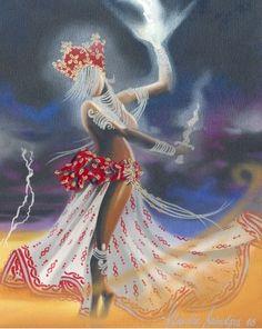 Oyá ou Iansã, orixá feminino dos ventos, relâmpagos, tempestade, trovão, do Rio Niger e também das paixões - Iansã - Oyá - linhadasaguas.com.br                                                                                                                                                                                 Mais
