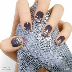 dark purple nails with a bit of shimmer