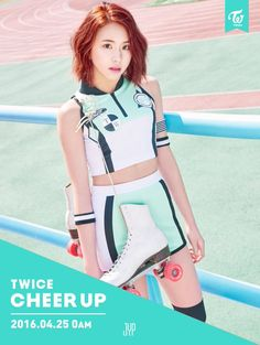 "Twice | Chaeyoung | Cheer Up Comeback Photos ""Once a fan, TWICE the fun!"" #JYP"