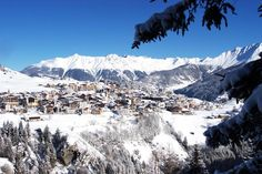 View on the village #Serfaus in the Tyrolean Alps, 1.429 meters - Austria