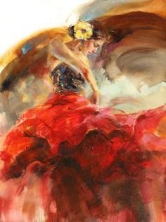 FLAMENCO....PAINTING....BY ANNA RAZUMOVSKAYA.....ON ANNA ART.....