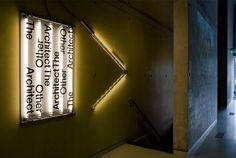 The Other Architect, Het Nieuwe Instituut Storefront Signage, Retail Signage, Wayfinding Signage, Signage Design, Environmental Graphics, Environmental Design, Sign System, Showcase Design, Box Design
