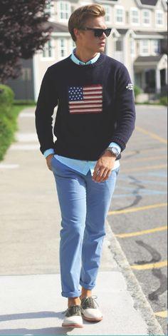 American flag jumper.