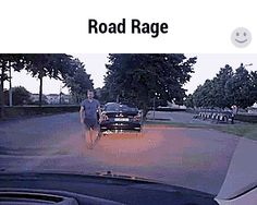 That's one way to deal with road rage