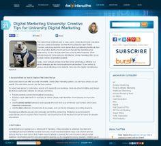 Digital Marketing University: Creative Tips for University Digital Marketing - Rise Interactive