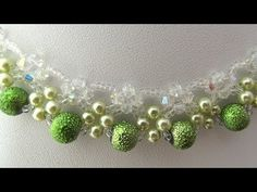 How to make beaded Necklace Light Green Fairy