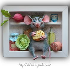Блог - Сайт vladulena! Salt Dough Crafts, Clay Wall Art, Polymer Project, Cotton Decor, Shadow Box Art, Sculpture Painting, Cute Clay, Fimo Clay, Pen Art