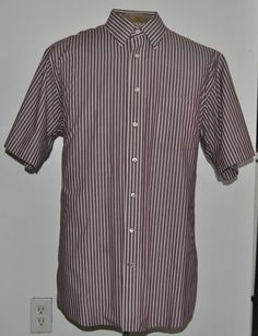 Mens Stafford Dress Shirt 17 Point Straight Collar Short Sleeve Cotton Blend #Stafford free shipping auction starting at$10.99