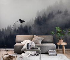 Misty forest fototapet/tapet från Happywall