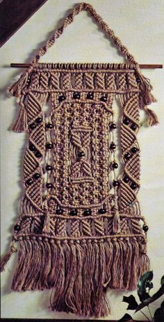 VINtAGE 1970s MaCRAME RARe WaLL HaNGING by Crafting4Ever2013