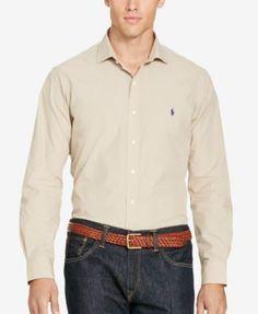 Polo Ralph Lauren Men's Big & Tall Poplin Sport Shirt