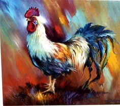 Beautiful Rooster by Gary Jenkins His tail feathers are bit ragged but he's probably been busy if you know what I mean.