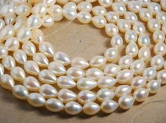 Full 15 inch strand 912mm tear drop cultured fresh by JWbeads, $34.20