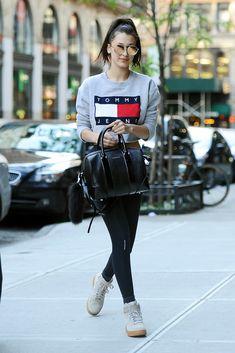 Bella Hadid in Nike Dunk Sneakers.