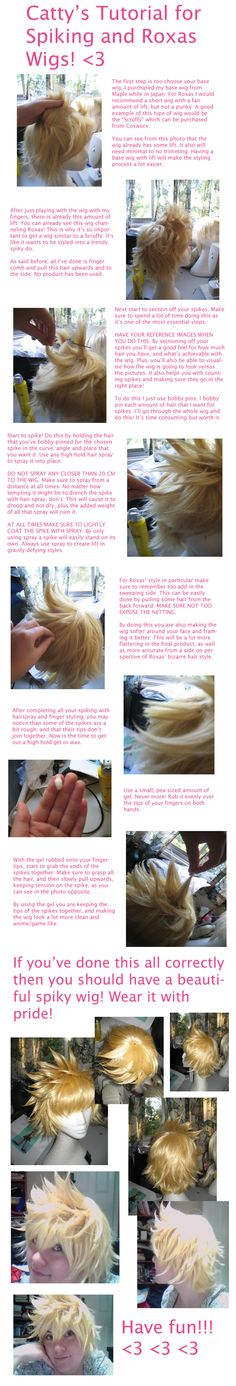 Wig Spiking Tutorial by ~Cattypatra on deviantART
