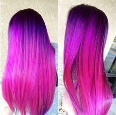 "Képtalálat a következőre: ""red purple ombre hair"" Bright Hair Colors, Hair Dye Colors, Ombre Hair Color, Pretty Hair Color, Beautiful Hair Color, Pink Purple Hair, Purple Ombre, Coloured Hair, Hair Trends"