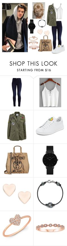 """""""Harry Girl"""" by lisa-ferreira98 ❤ liked on Polyvore featuring Velvet by Graham & Spencer, Joshua's, Moschino, CLUSE, Ted Baker, Anne Sisteron and Bing Bang"""