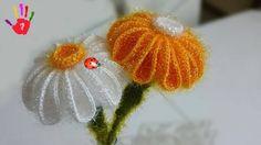 Sakallı İpe İle Papatya Yapımı - Tığ İle Papatya Çiçeği Yapılışı - El Sanatları ve Hobi