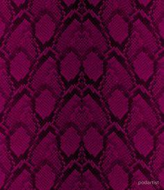 Hot Neon Pink and Black Python Snake Skin