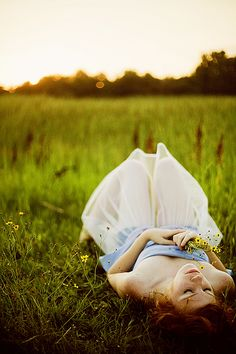 Lying in the grass pondering life <3