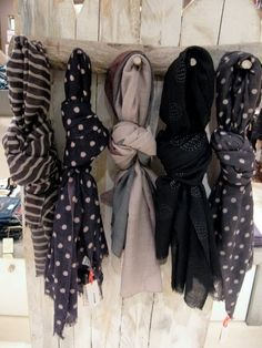 My babe made something similar to this for me for my closet :) such a sweetheart! I have an abundance of scarfs!