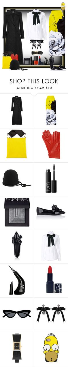 """D'oh!"" by ritva-harjula ❤ liked on Polyvore featuring Alexander McQueen, Prabal Gurung, Marni, Mario Portolano, Dsquared2, NARS Cosmetics, Stella Luna, Dolce&Gabbana, NYX and Le Specs"