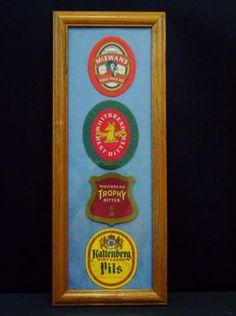 European-Beer-Coasters-Bar-Pub-Framed-Wall-Decor-McEwan-039-s-Whitbread-Kaltenberg