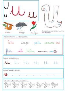 coloriage Page sur le u - Livre GS / CP sur les minuscules