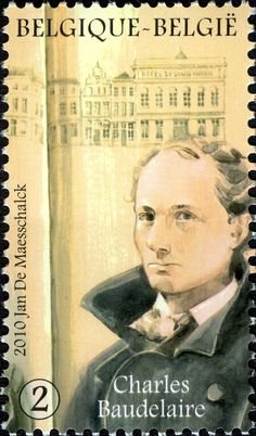 Literary Stamps: Baudelaire, Charles (1821 – 1867)