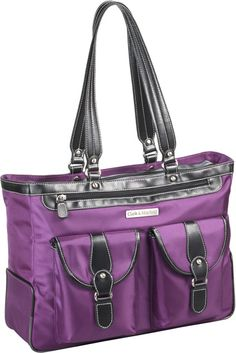 """Clark & Mayfield Marquam Metro 18.4"""" Laptop Tote - Purple. This handbag's features and interior are spot on."""