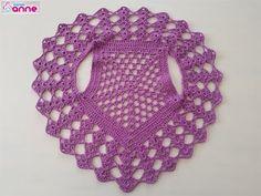 Hacer un chaleco bolero de punto de verano - Bebek Yelek Modelleri ve Yapılışları - Crochet Circle Vest, Crochet Vest Pattern, Crochet Circles, Baby Knitting Patterns, Crochet Patterns, Crochet Doily Rug, Crochet Afgans, Crochet Cap, Crochet Shrugs