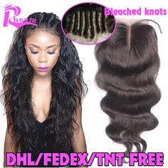 Body Wave Lace Closure Brazilian Virgin Hair Lace Closure Bleached Knots,Human Hair Closure With Baby Hair,Lace Front Closures * More info could be found at the image url.