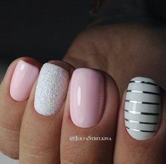 Nail art is a very popular trend these days and every woman you meet seems to have beautiful nails. It used to be that women would just go get a manicure or pedicure to get their nails trimmed and shaped with just a few coats of plain nail polish. Pink Nail Designs, Acrylic Nail Designs, Nails Design, Nail Designs With Glitter, Nail Designs For Spring, Salon Design, Cute Nails, Pretty Nails, Hair And Nails