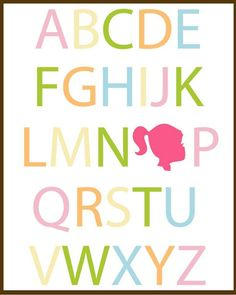 child room, letter, girl bedrooms, silhouettes, free printabl