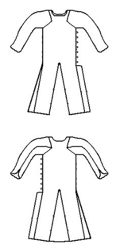 """Some Clothing of the Middle Ages - Tunics - """"This garment is referred to in Museo de Telas Medievales as Aljuba o saya encordada de Fernando de la Cerda (c.1225-1275). It laces up the side."""""""