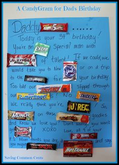 Saving Common Cents: A CandyGram for Dad's Birthday!