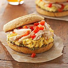Buongiorno! Start your day with an Italian twist on the American egg sandwich. This low-carb breakfast includes whole grains, lean protein, and antioxidant-rich roasted red peppers.